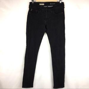 AG The Jegging Super Skinny Fit Black Jeans 29 R